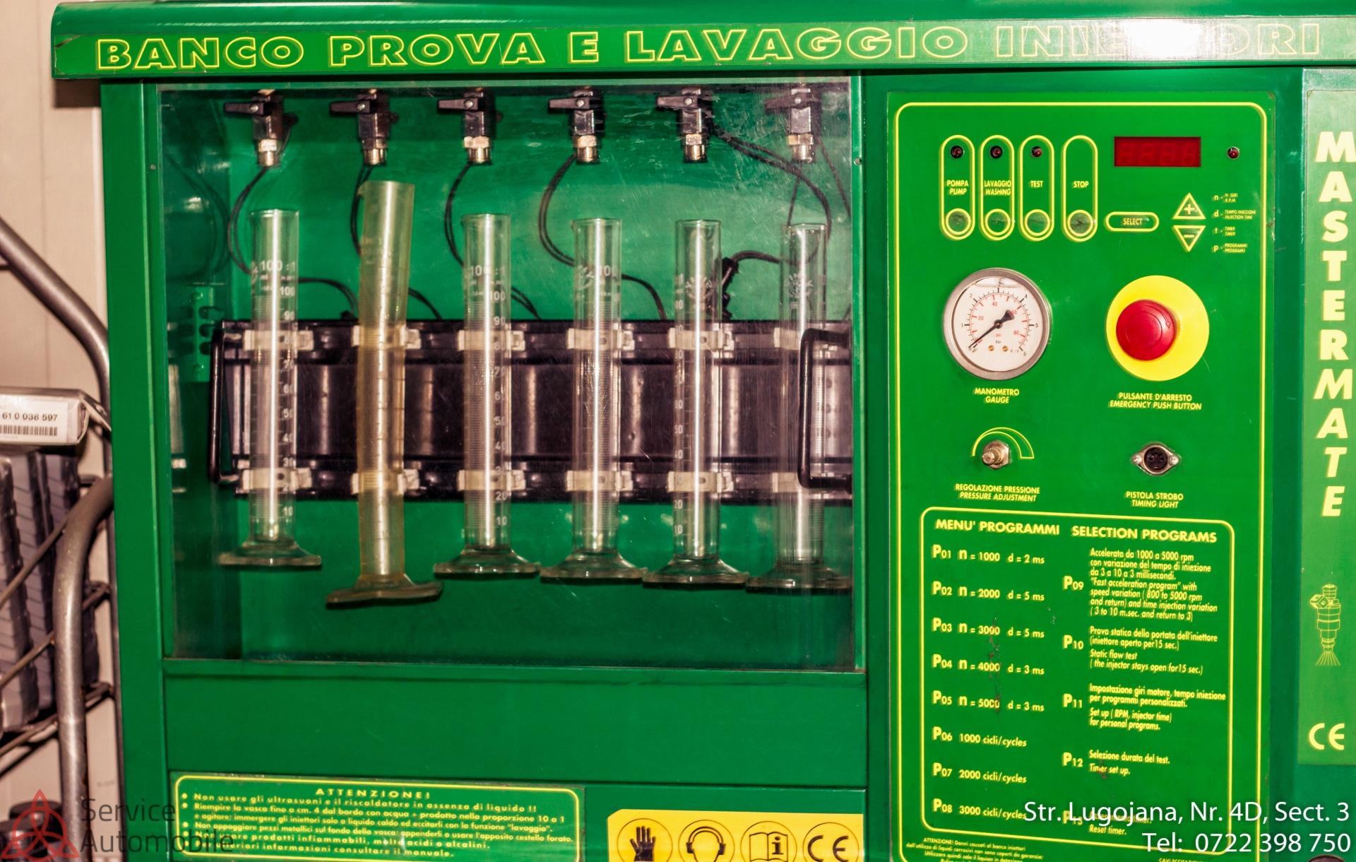 Aparat curatare injectoare ultra modern